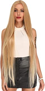 Ebingoo Charming Ombre Golden Blonde Lace Front Wigs with Long Straight Middle Part Balayage Wig for Women Heat Resistant Wigs for Daily Wear (Ombre Golden Blonde)