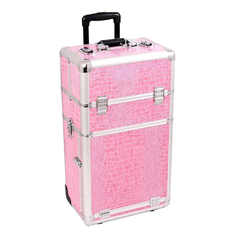 Craft Accents I3462 Croc Trolley Craft/Quilting Storage Case, Pink