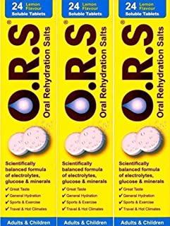 O.R.S Oral Rehydration Salts 24 Lemon Flavour Soluble