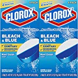 Clorox Automatic Toilet Bowl Cleaner, Bleach & Blue, Rain Clean Scent, 2.47 Ounces, 8 Pack (Packaging May Vary)