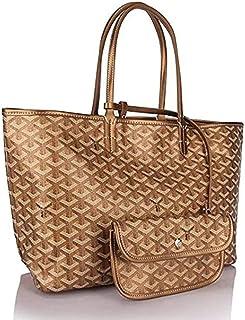 "Shoulder Bag Women Large Tote Purse Classic Travel & Shopping Top Handle Handbags Shoulder Bags Handbag Clutch (Color : Gold, Size : 21"" x 11"" x 6"")"