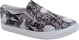 FZ-Design-01 Women's Fashion Causal Round Toe Slip On Flat Heel Sneaker Shoes