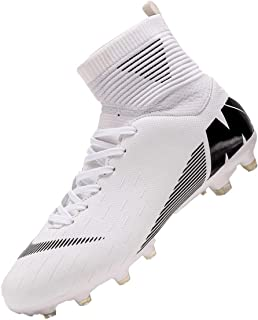 YUKTOPA Chaussures De Football pour Homme Homme High Top Spike Crampons Profession Athlétisme Entrainement Chaussures de S...