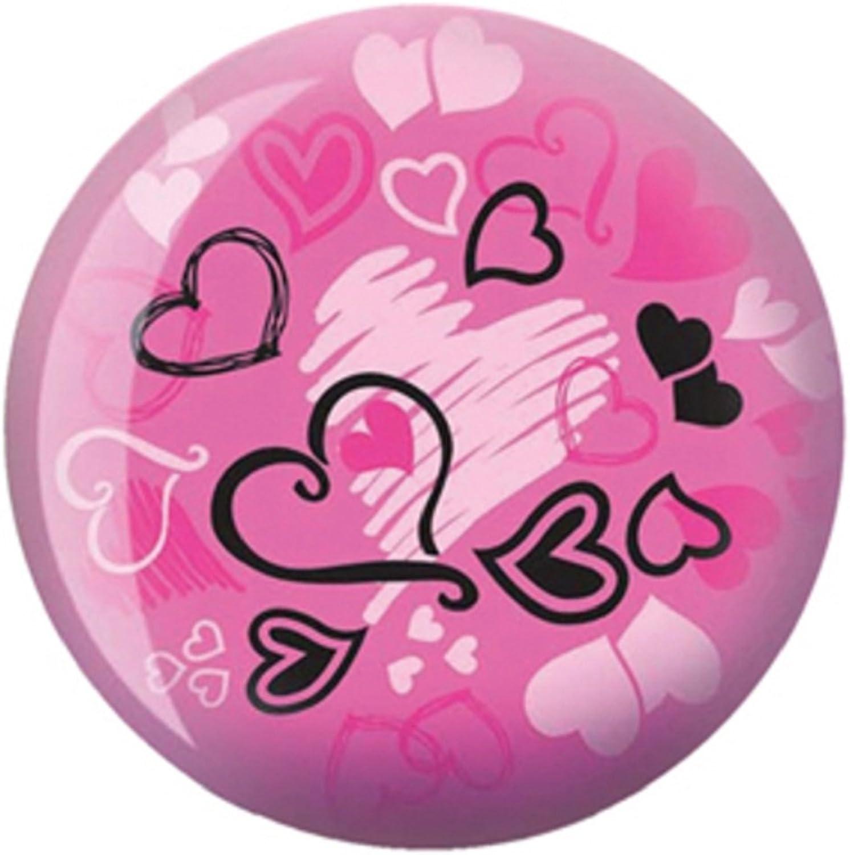Brunswick Products Hearts Glow VizABall Bowling Ball 8lb, Pink Black, 8 lb