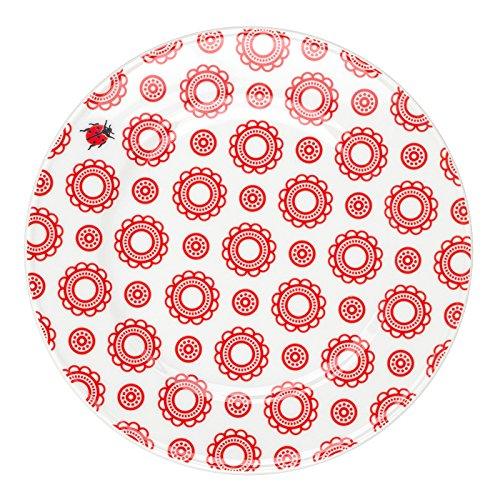Feinkost Käfer Geschirr, Porzellan, Weiß/rot, 19 x 19 x 2 cm, 6-Einheiten