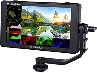 FEELWORLD LUT6 6 Inch 2600nits HDR/3D LUT Touch Screen DSLR Camera Field Monitor with Waveform VectorScope Histogram 4K HD...