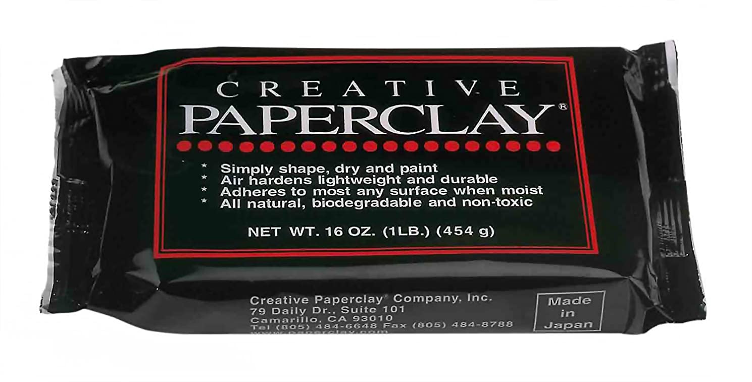 Glorex 0 0904?–?Paperclay Modelling Clay, 450 g, White