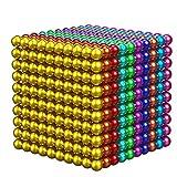 ZYFCC Cubo De Bola Magnética De Color, 1000 5 Mm, con Caja De Almacenamiento De Hierro, Fácil De Transportar