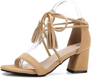 BalaMasa Womens ASL06528 Pu Block Heels