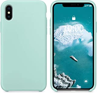 SURPHY Silicone Case for iPhone Xs iPhone X Case, Slim Liquid Silicone Soft Rubber Protective Phone Case Cover (with Soft Microfiber Lining) Compatible with iPhone X iPhone Xs 5.8
