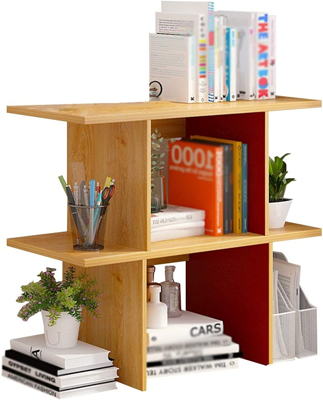 Xiao Jian Bookshelf - Simple Modern Desktop Solid Wood Shelf Multi-Function Bookshelf (Three Sizes to Choose from) Bookshelf (Size   A-60cm)