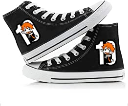 Jzdhlsc Unisex Adults Haikyuu,Black Chaussures en Toile Anime Haut À Lacets Chaussures en Toile Baskets Formateurs Cosplay...