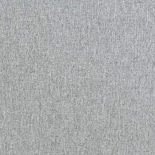 Teker Bristol Polsterstoff Premium Schmutzabweisend Meterware - z.B. Stoff für Stühle oder Eckbank Bezug- Hellgrau
