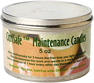 CitriSafe Maintenance Candle – 5 oz. – Safe, Odorless Candle to Reduce Airborne Mold Spores