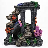 Aqua KT Aquarium Roman Column Decoration for Fish Tank Mountain Rock Ornament, Made of Resin, 16 cm Length x 18 cm Height
