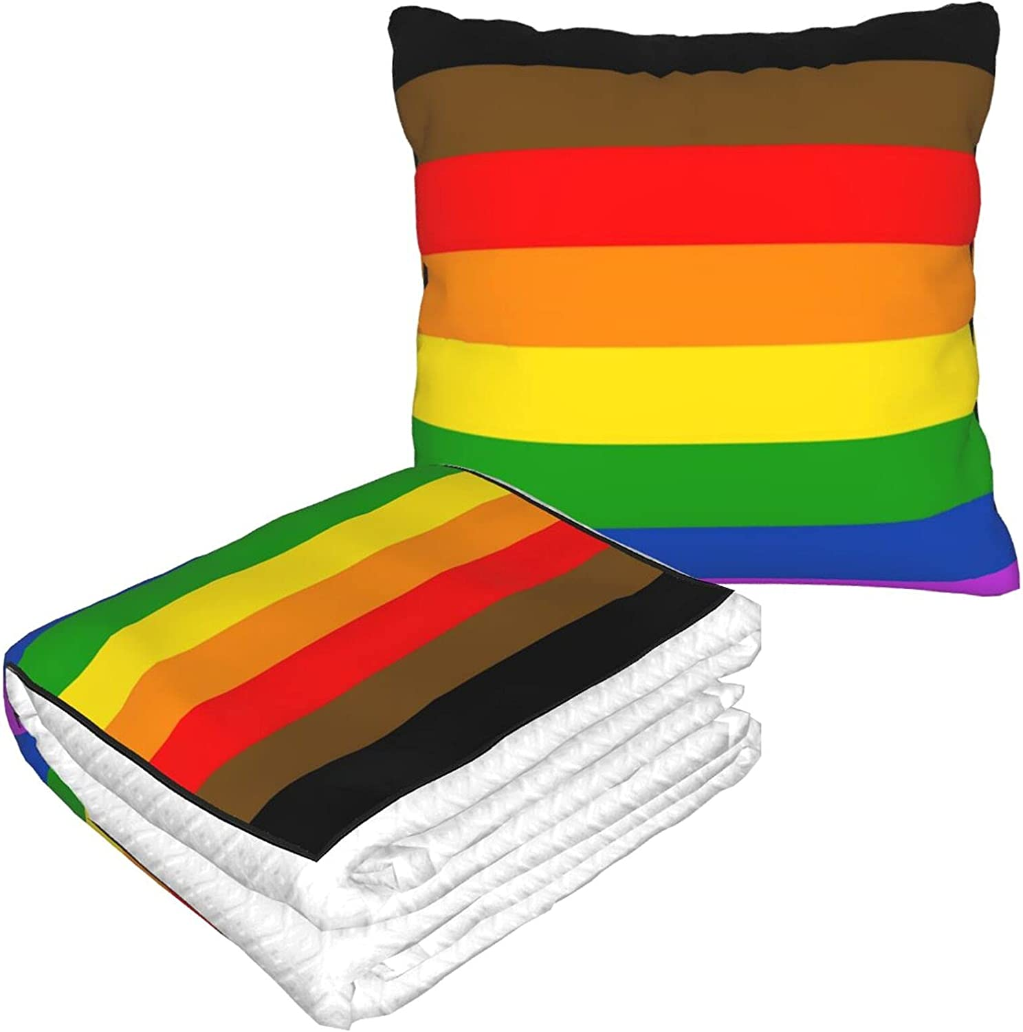 Foldable Pillow Blanket Philly Pride Flag Special Campaign LGBTQ Camp Ranking TOP6 for Travel
