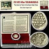 IVAN IV THE TERRIBLE - Medieval Russian Empire 'Wire Money' Silver Kopek Coin in Display Box with Certificate of Authenticity - The Advent of Terror & the Secret State Police
