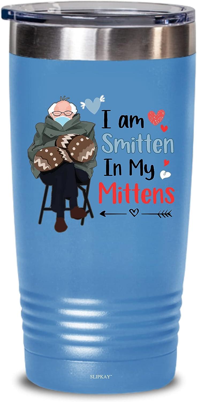 I Am Smitten In My Mittens Bernie Mittens Valentines Day Tumbler 20oz,Gifts