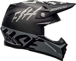 Bell Moto-9 Flex Off-Road Motorcycle Helmet (Fasthouse WRWF Matte/Gloss Black/White/Gray,  Large)