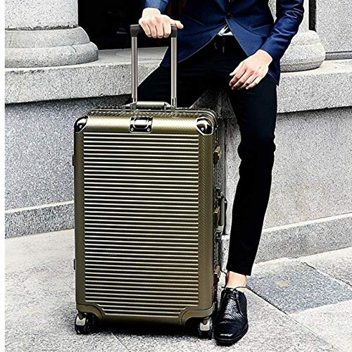 SFBBBO luggage suitcase Aluminum hardside travel suitcase on wheel travel bags Super fashion spinner trolley luggage bag 24' Titanium