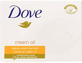 Dove Beauty Cream Bar With Moroccan Argan Oil, 3.5 Ounce / 100 Gram (Pack of 12 Bars)