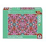 Schmidt Spiele- Catalina Estrada - Puzzle (1000 Piezas), diseño de Rosas, Color Rojo (59586)