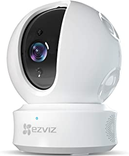 EZVIZ Pan/Tilt/Zoom Camera 1080p IP Dome Security Surveillance System Night Vision Auto Motion Tracking Pet Baby Monitor Two Way Audio Compatible with Alexa WiFi 2.4G Only WH CTQ6C