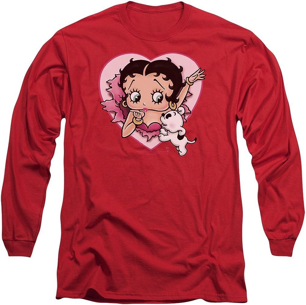 Betty Boop Mens I Love Betty Long Sleeve T-Shirt