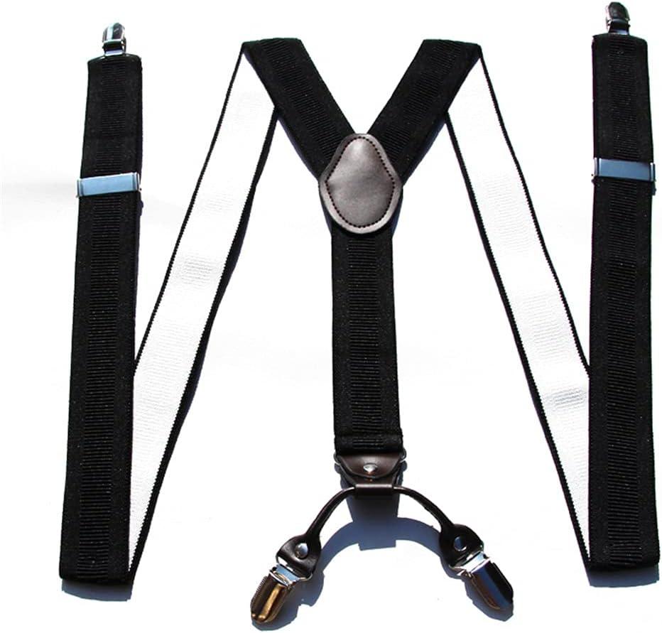 SKREOJF Braces for Men & Women Fully Adjustable Y Shape Adults Slim Suspenders Braces for Trousers (Color : B)