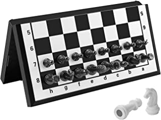 Travel Chess Set Magnetic Folding Board Portable Games for Kids and Young Adults