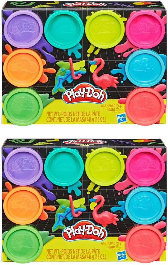 PD Play Doh 8 Super popular specialty store Pack Bundle: Compound of Packs High quality 2 Neon -