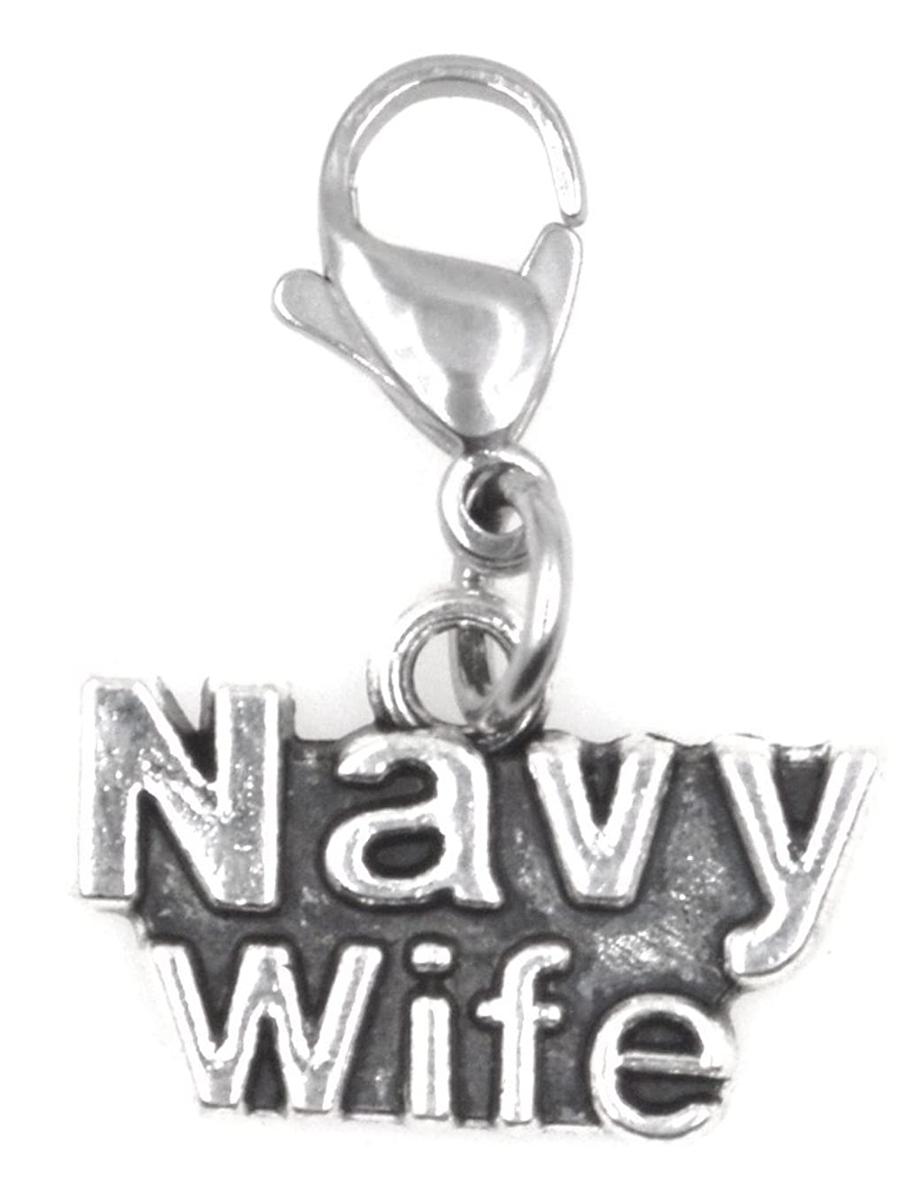 Navy Wife Military Clip on Charm 96X