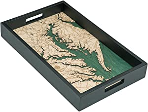"Woodchart Chesapeake Bay Serving Tray 20"" x 13"""