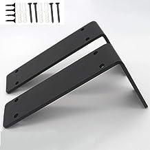 Set van 2 5 mm dikke industriële plank beugels metalen rustieke planken beugel zware ijzeren muur zwevende belasting 150 k...