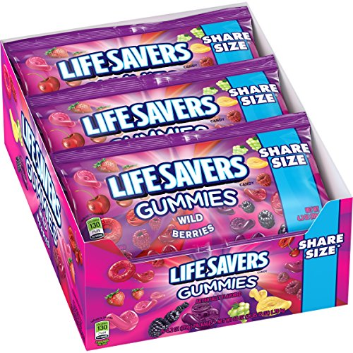 Life Savers Wild Berries Gummies Candy, 4.2 oz (15 Share Size Packs)