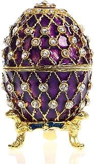 6d27a9037c H&D Œuf de Fabergé Violet Boîte à bijoux Œuf de Pâques