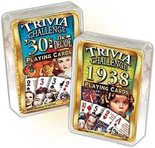 Flickback 1938 Trivia Playing Cards & 1930`s Decade Trivia Combo Birthday Gift