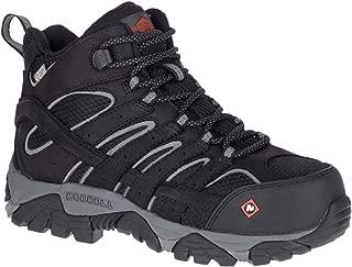 Moab Vertex Mid Waterproof Comp Toe Work Boot Women 10.5 Black