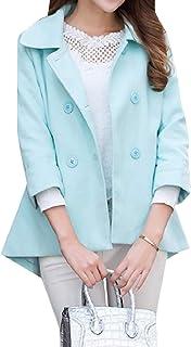 معطف رياضي كاجوال كاجوال للسيدات من SportsXX مناسب للخريف مقاس كبير صوف شتوي مفتوح من الأمام
