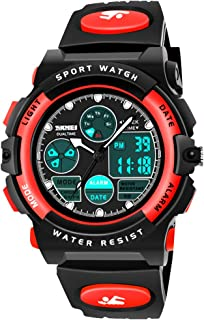 SOKY LED 50M Waterproof Digital Sport Watches for Kids