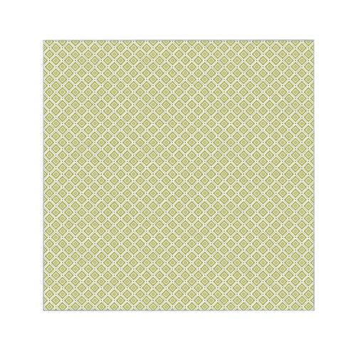 banjado Glasplatte für IKEA Lack Tisch 55x55cm | Abdeckplatte aus Sicherheitsglas | Motiv Grüne Karos | Tischplatte für Beistelltisch, Sofatisch weiß Glasplatte