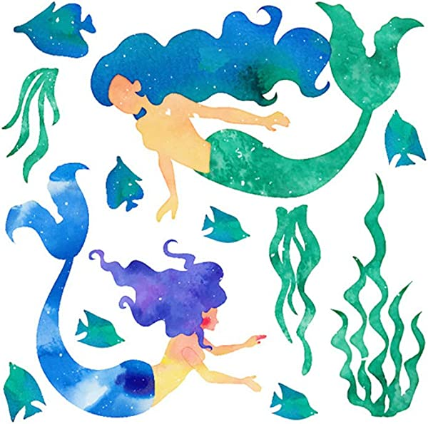 Mermaid Wall Stickers Removable Wall Decals DIY Wall Decor For Kid S Room Bedroom