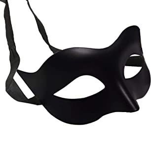 IDOXE Halloween Black Masquerade Masks Cool Men Adult Kids Fighter Half Face Venetian Mask for Zorro Masquerade Ball Party