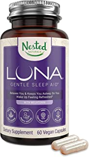 Luna   #1 Sleep Aid on Amazon   Naturally Sourced Ingredients   60 Non-Habit Forming Vegan Capsules   Herbal Supplement wi...