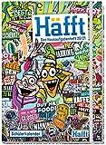 Häfft Hausaufgabenheft Deluxe A5 2020/2021 [Stickermania] Hardcover Schülerkalender, Schülerplaner mit Gummiband   nachhaltig & klimaneutral