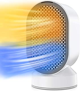 Portátil Calefactor Eléctrico, QUARED Mini Calentador de Ventilador, Personal Ventilador Calefactor Eléctrico PTC Cerámica...