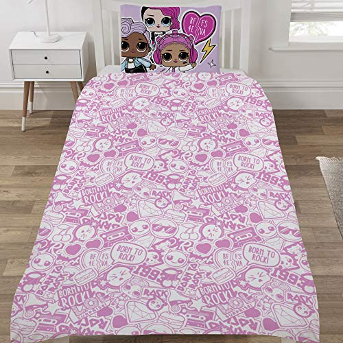LOL Surprise Duvet Set, Polycotton, Multi, SINGLE