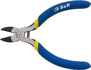 S&R Elektrisk sidoskärare (radiotång) 115 x 18 mm, CR-V stål PVC-belagda handtag