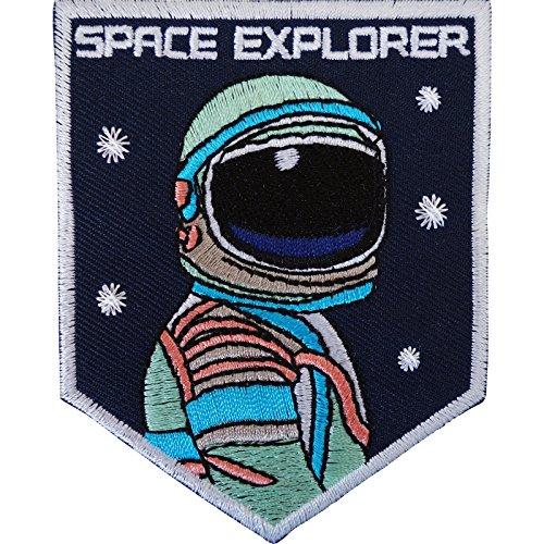 Disfraz de astronauta parche de hierro sobre/para coser en insignia astronauta espacio Nasa