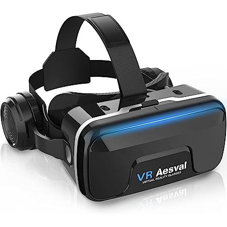 【令和3年最新】 VRゴーグル VRヘッドセット VRヘッドマウントディスプレイスマホ用 エレコム超広角120° 焦点距離&瞳孔間距離調整可 4.7-6.5インチスマホ対応 遠視/近視適用 3Dグラス 非球面光学レンズ 眼鏡対応メガネオン人対応 装着感 日本語取扱書付 入学祭プレゼント